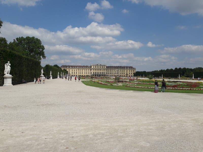 Замок Schönbrunn в Wienna стоковое фото rf