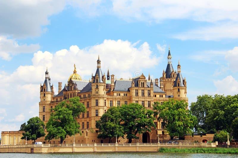 Замок Schwerin, Германия стоковое изображение rf