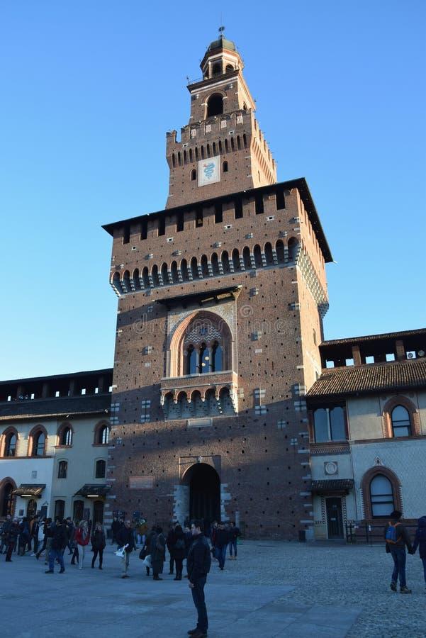 Замок Sforzesco - милан стоковые фотографии rf