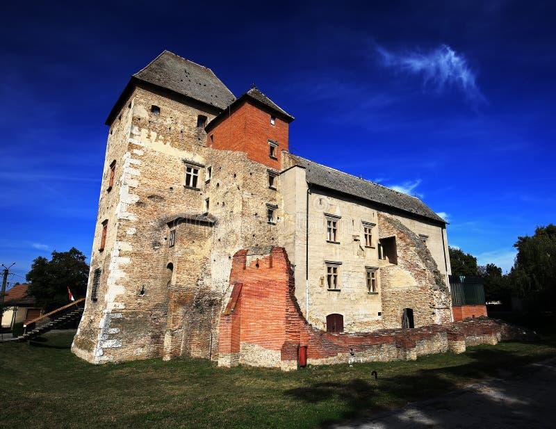 Замок Simontornya Венгрии стоковое изображение rf