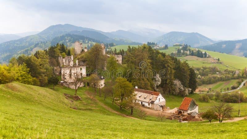 Замок Sklabina, Мартин, Словакия стоковые фото