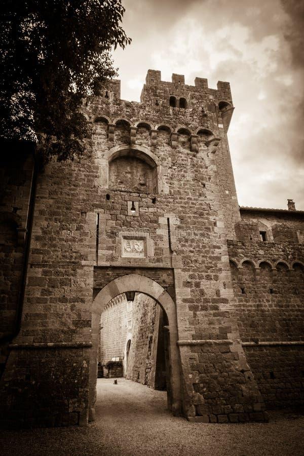 Замок Spedaletto стоковое изображение rf