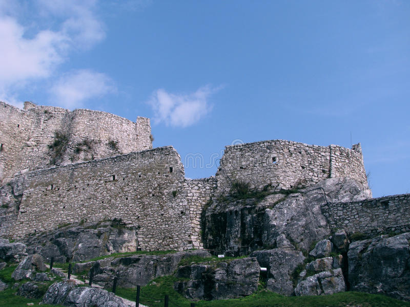 Замок Spis стоковые фотографии rf