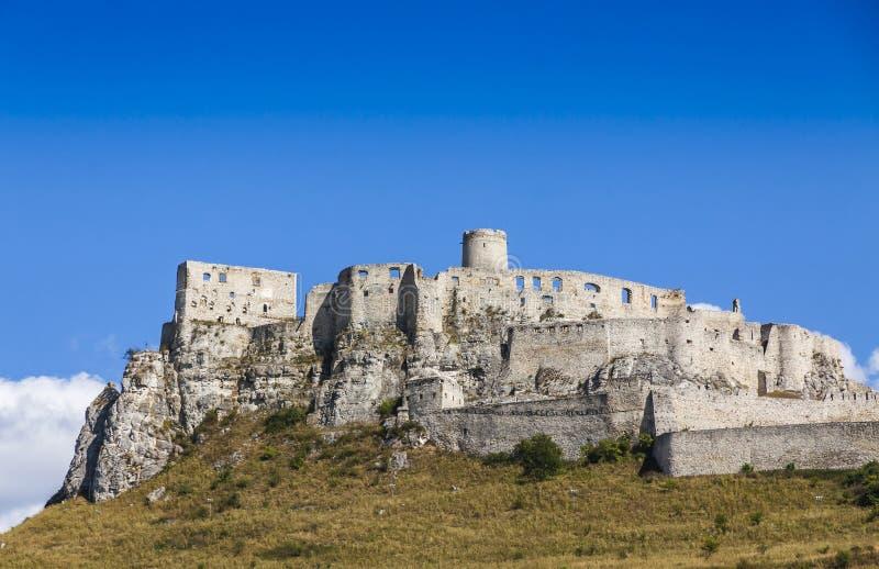 Замок Spis (hrad) Spissky, Словакия стоковое фото