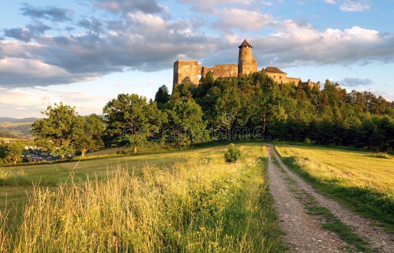 Замок Stara Lubovna в ориентир ориентир Словакии, Европе стоковая фотография