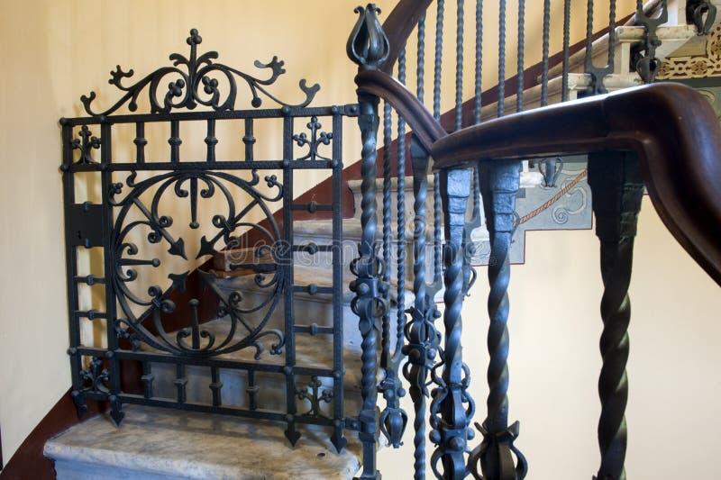 Замок Tercesi винтовой лестницы стоковое изображение