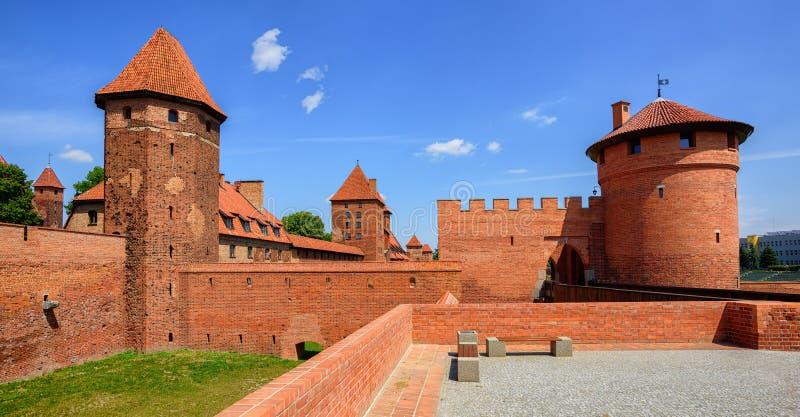 Замок Teutonic заказа рыцарей в Мальборке, Польше стоковые фото