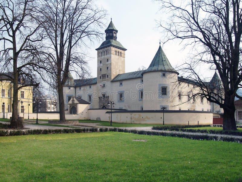 Замок Thurzo в Bytca во время весны стоковое изображение rf