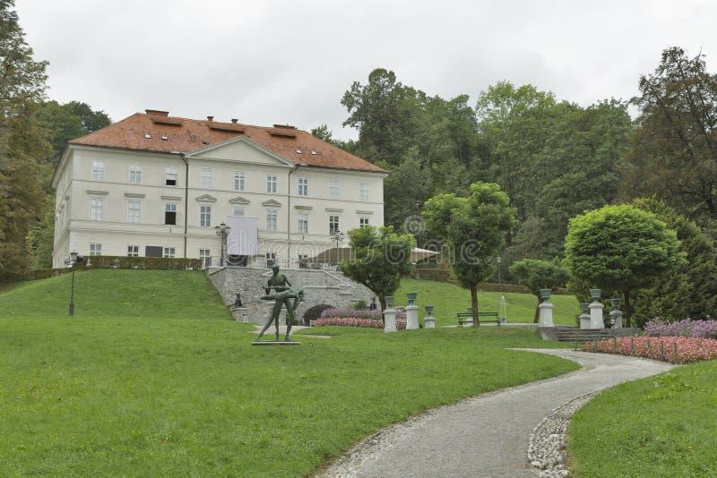 Замок Tivoli в Любляне, Словении стоковая фотография