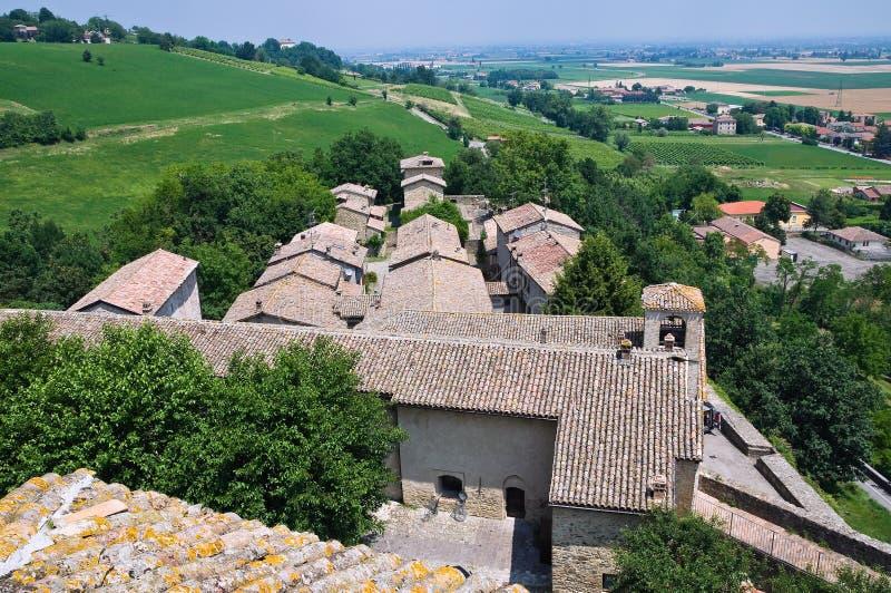 Замок Torrechiara. Эмилия-Романья. Италия. стоковые изображения rf
