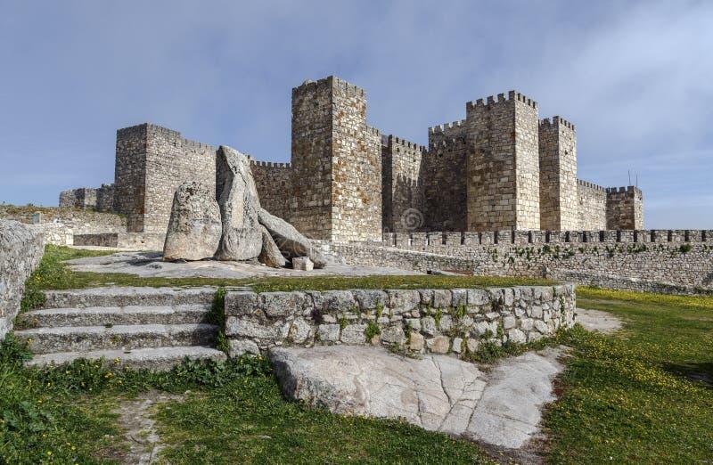 Замок Trujillo, средневековая деревня в провинции Caceres стоковые изображения rf