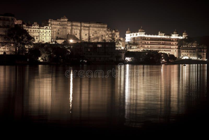 Замок Udaipur индейца известный стоковое фото
