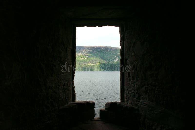 Замок Urquhart, Loch Ness, Шотландия стоковое фото rf