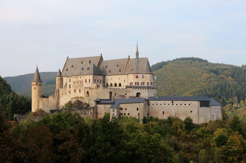 Замок Vianden, Люксембург стоковая фотография