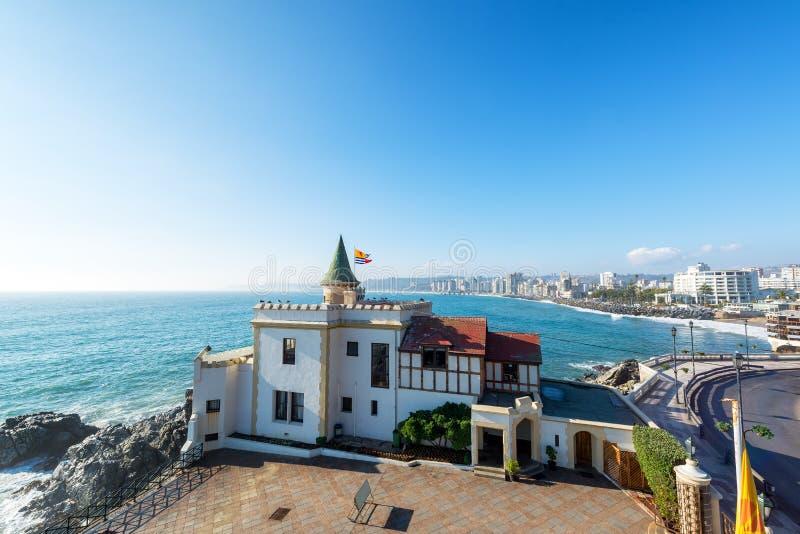 Замок Wulff в Vina Del Mar стоковая фотография rf