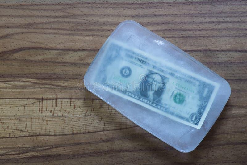 Замораживание доллара стоковые изображения