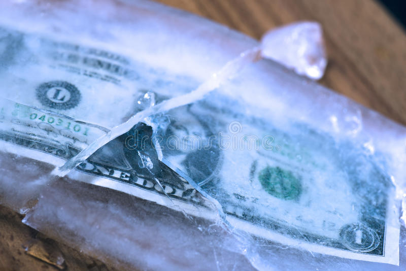 Замораживание доллара стоковые фотографии rf