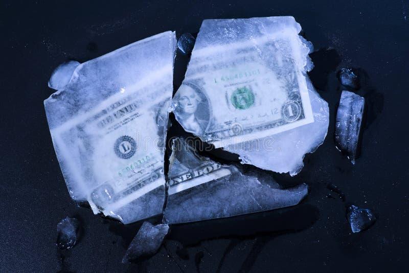 Замораживание доллара стоковая фотография rf