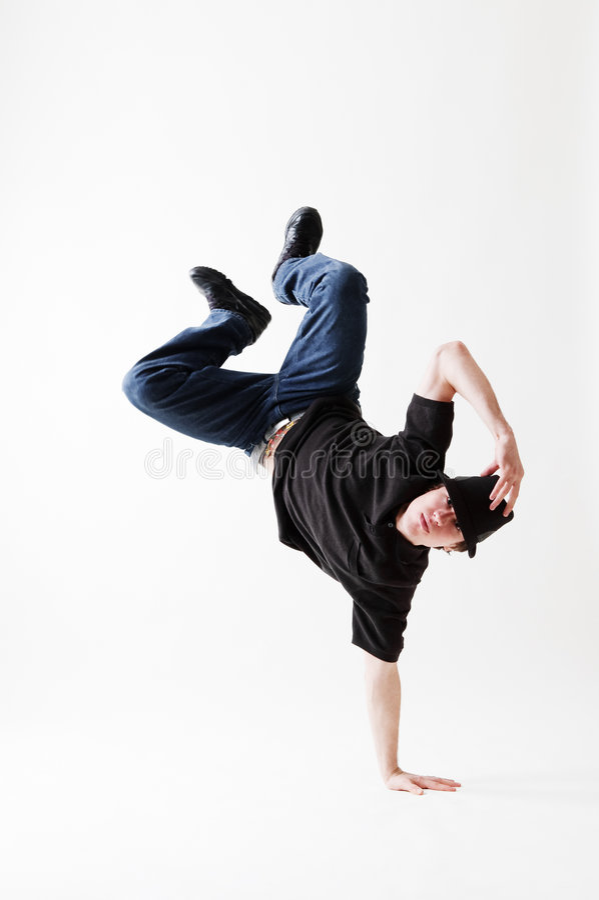 замораживание breakdancer стоковые изображения