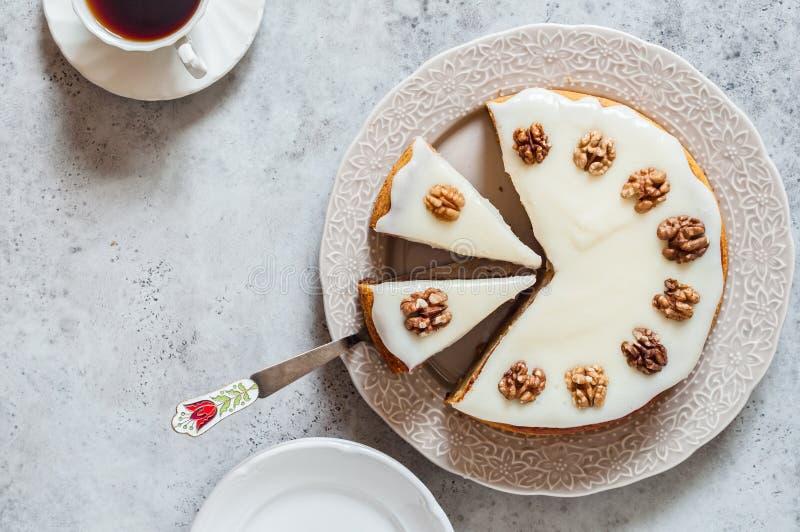 Замораживать сыра торта тыквы со сливками стоковая фотография rf