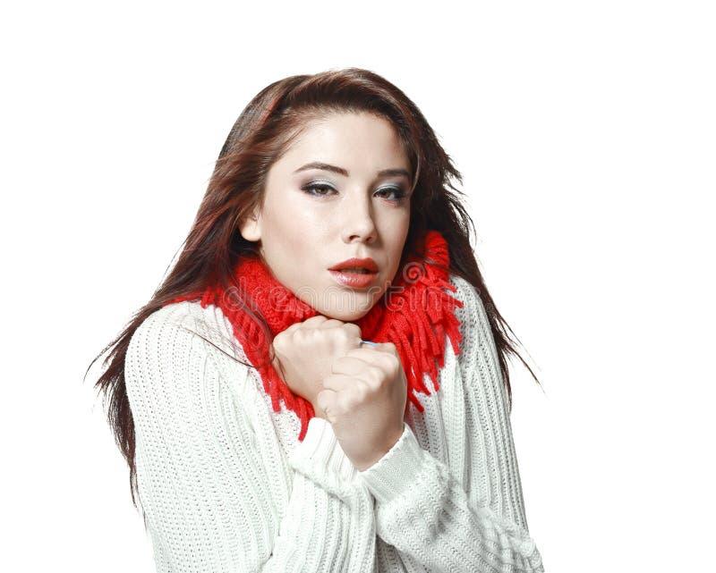 замороженная женщина стоковая фотография rf