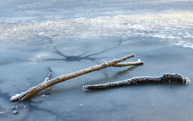 замороженная зима озера стоковая фотография
