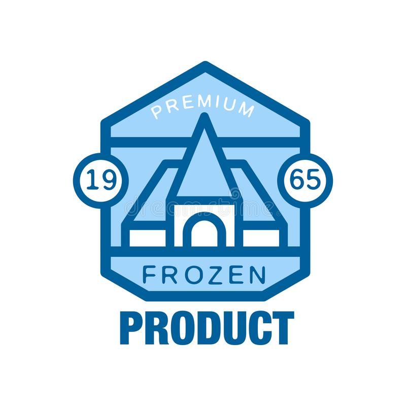 Замороженная награда с 1965, абстрактный ярлык продукта для замерзая иллюстрации вектора бесплатная иллюстрация