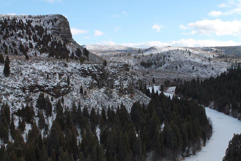 Замороженная долина стоковое изображение