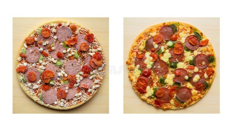 замороженная пицца стоковая фотография rf
