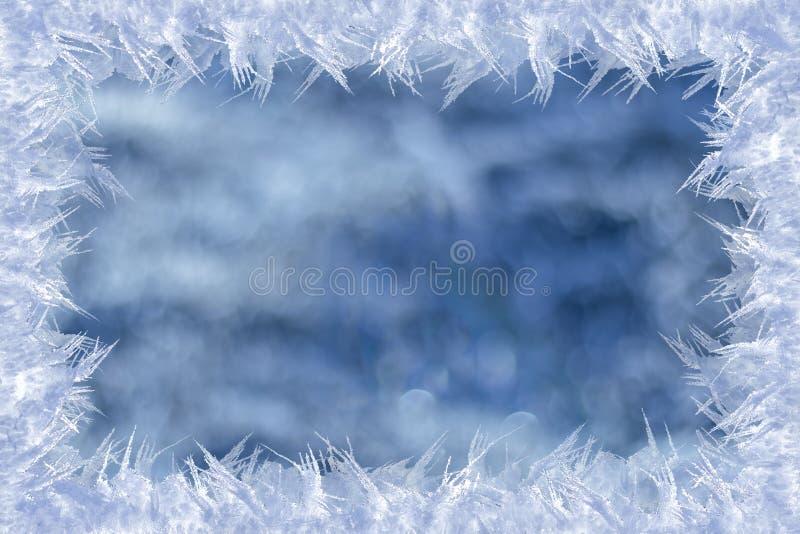Замороженная рамка на текстурированной предпосылке стоковая фотография rf