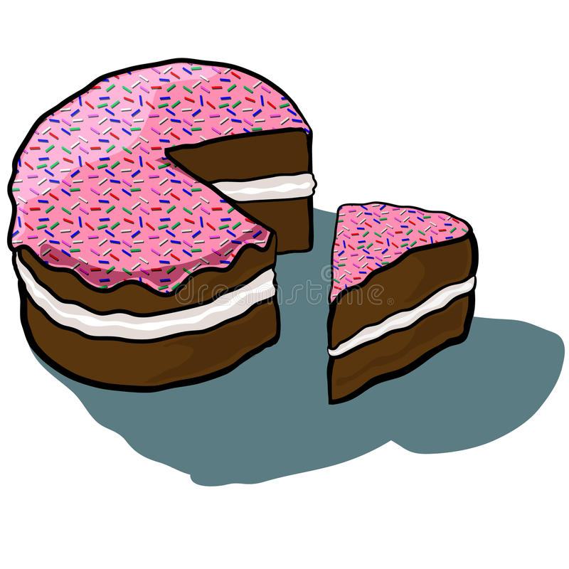 Замороженная тортом часть отрезка стоковые изображения