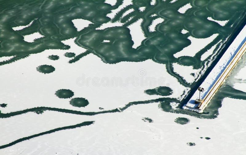 замороженное озеро Мичиган стоковые фотографии rf