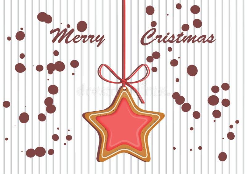 Замороженность украшенная пряником покрашенная Качественная иллюстрация вектора на день ` s Нового Года, рождество, зимний отдых стоковое изображение