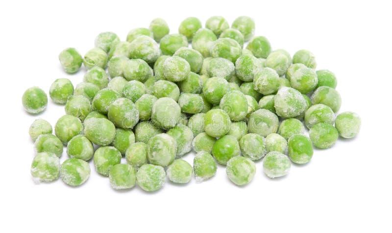 замороженные зеленые горохи стоковое изображение