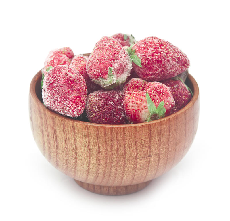Download замороженные клубники стоковое фото. изображение насчитывающей ягод - 40588922