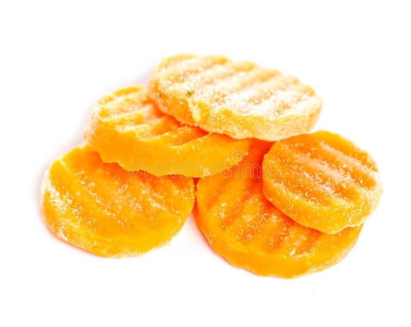 Замороженные моркови овоща стоковое изображение