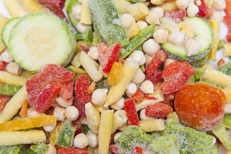 замороженные овощи стоковое фото