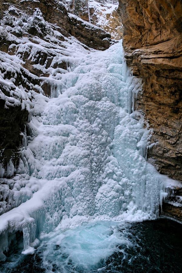 Замороженные падения каньона Johnston стоковые фото
