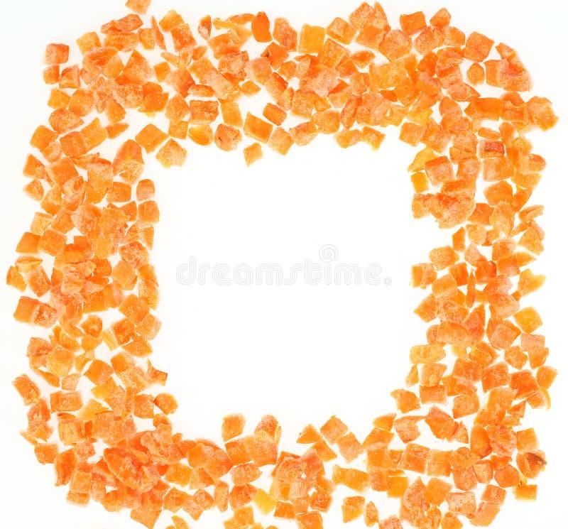 Замороженные прерванные моркови стоковое изображение rf