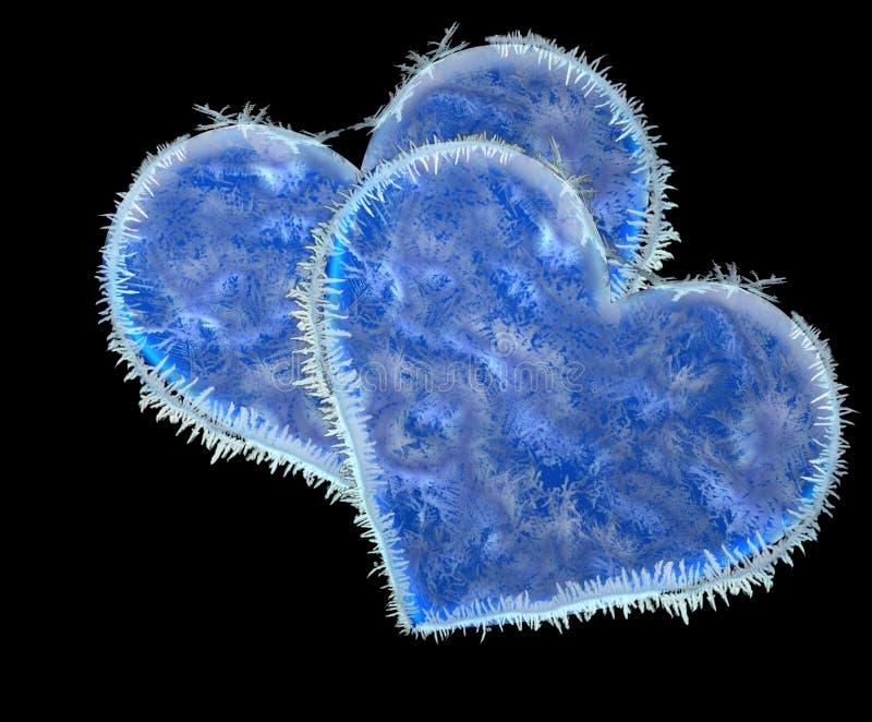 Замороженные сердца бесплатная иллюстрация