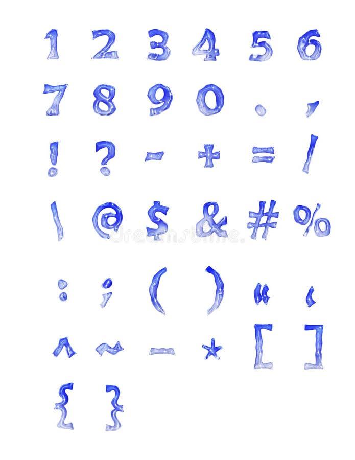 замороженные символы номеров стоковые изображения