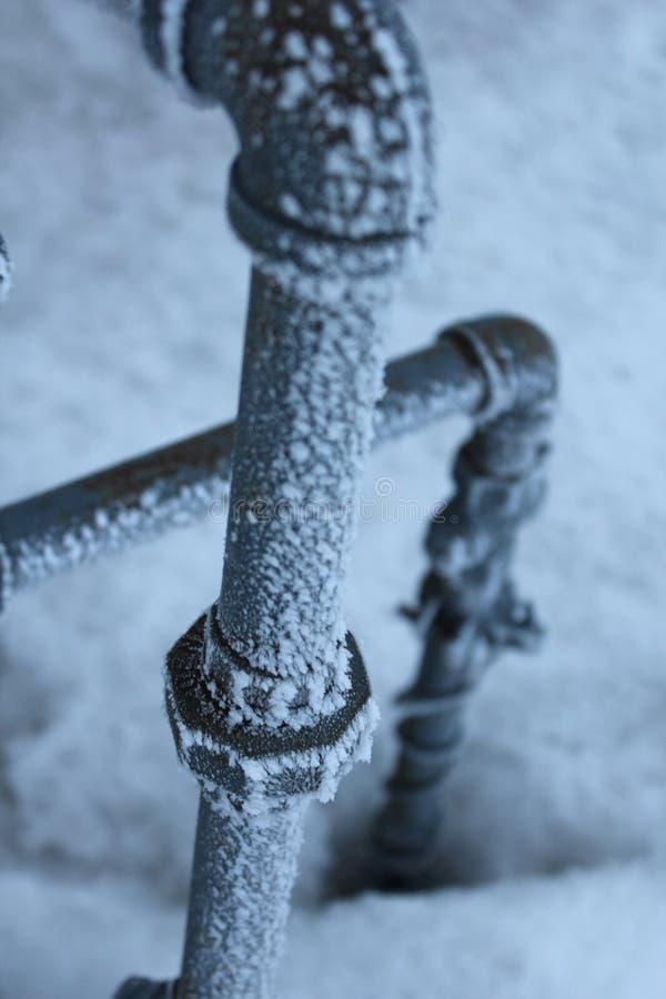 замороженные трубы стоковое изображение