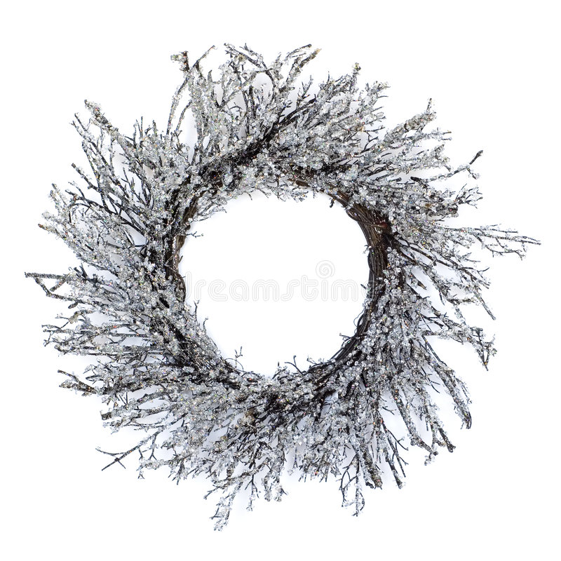 замороженный венок стоковые изображения rf