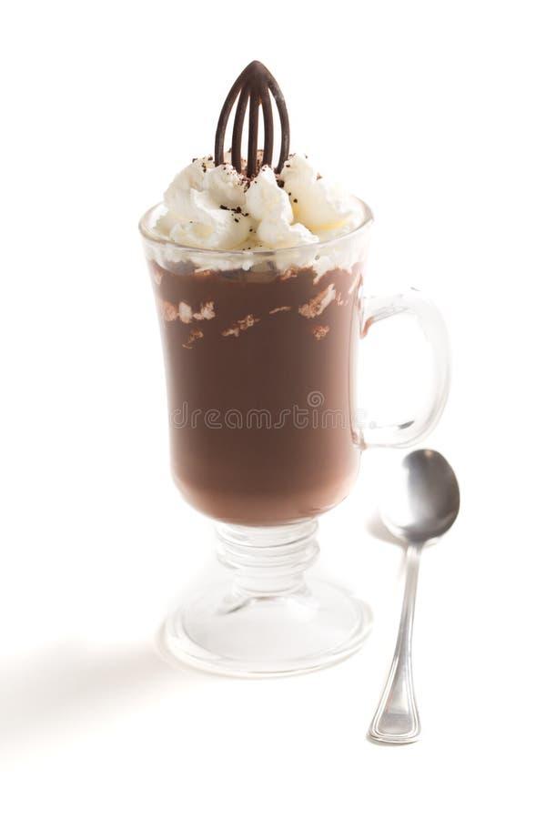 Замороженный кофе с взбитой сливк и брызгает стоковое изображение