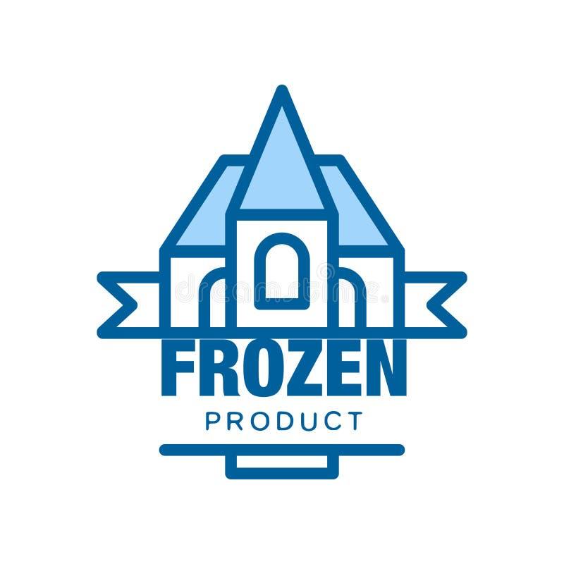 Замороженный продукт, абстрактный ярлык для замерзая иллюстрации вектора бесплатная иллюстрация