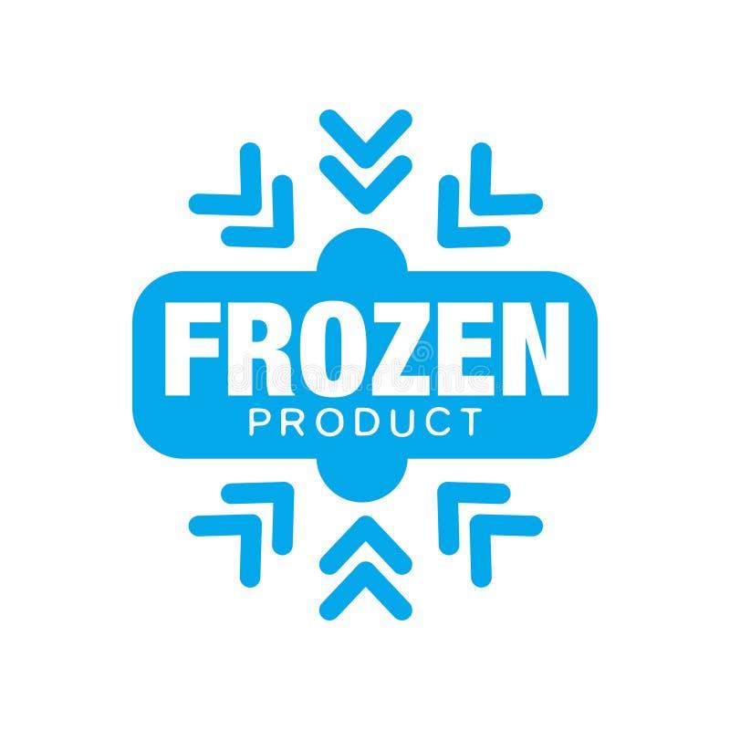 Замороженный продукт, стикер для еды с иллюстрацией вектора знака снежинки бесплатная иллюстрация