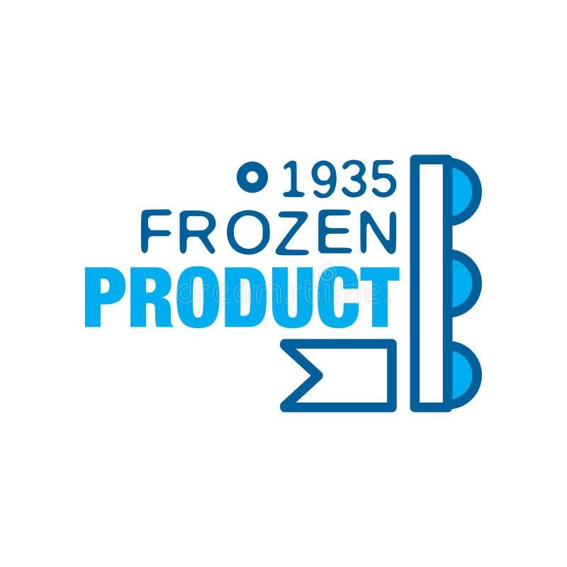 Замороженный продукт с 1935, абстрактный ярлык для замерзая иллюстрации вектора иллюстрация штока