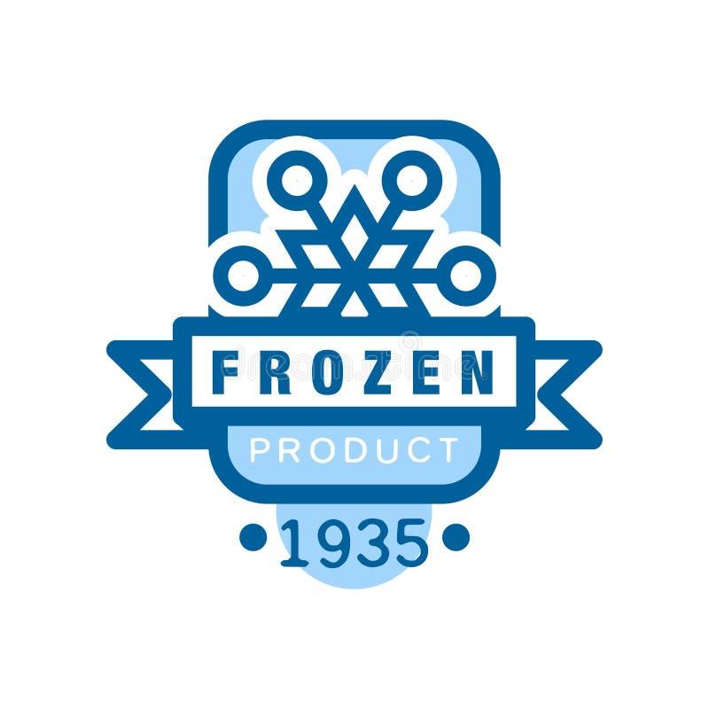 Замороженный продукт с 1935, стикер для еды с иллюстрацией вектора знака снежинки бесплатная иллюстрация