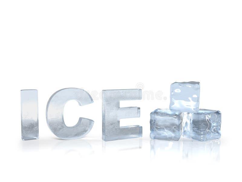 замороженный текст льда иллюстрация вектора