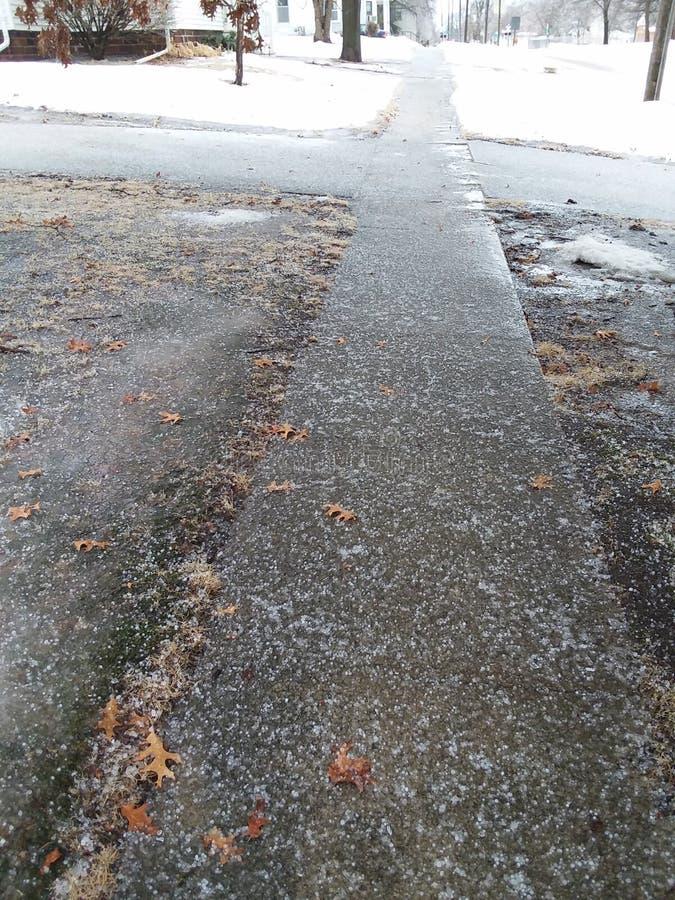 Замороженный тротуар стоковые фото